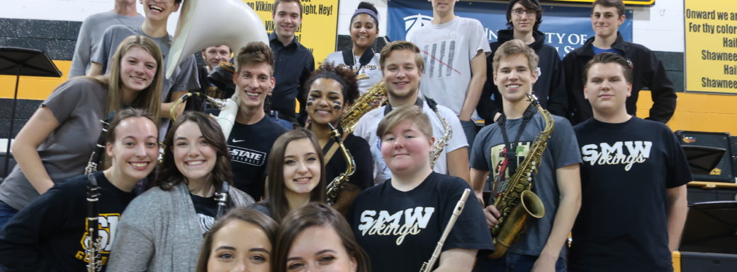 Pep Band Alumni at the West Basketball Game