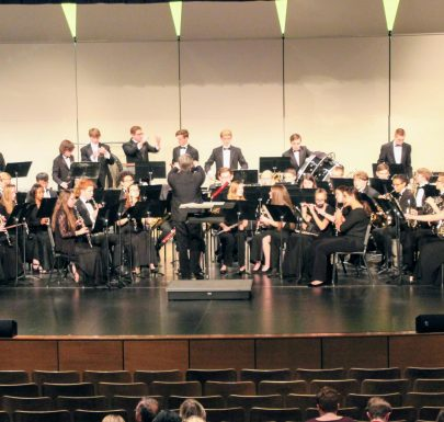 Shawnee Mission West Wind Ensemble on Stage