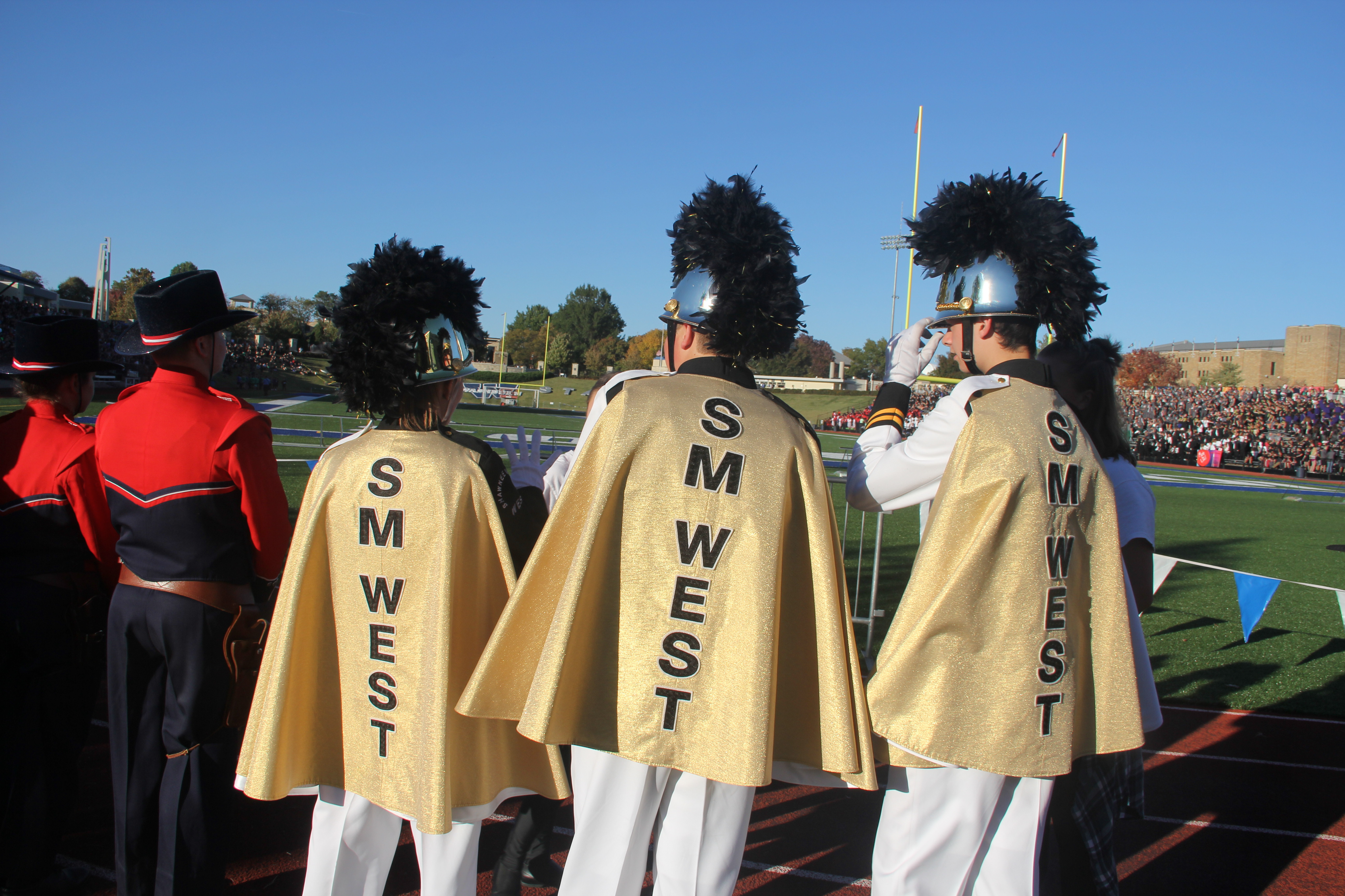 SM West Drum Majors at Kansas Bandmasters Association