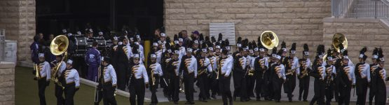 Shawnee Mission West Marching band at Central States Marching Festival