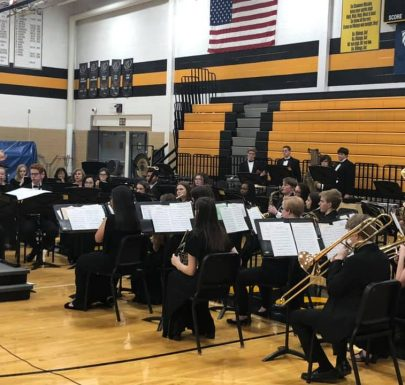 Shawnee Mission West Band at the Chili Supper