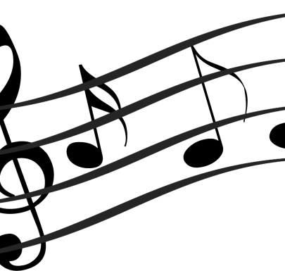 Decorate notes on a musical staff