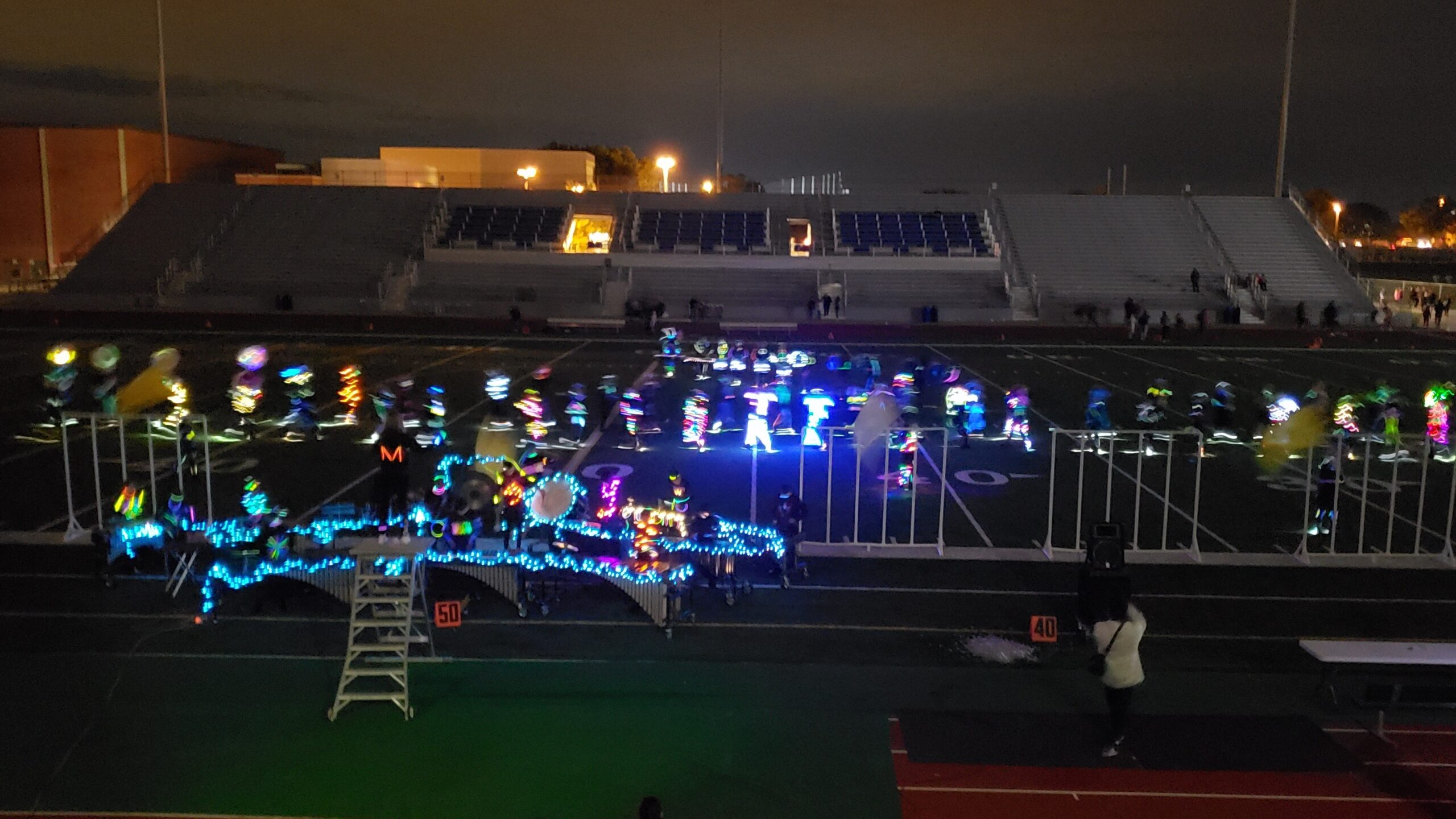 2018 Shawnee Mission West Marching Band Glow Show, courtesy Will England