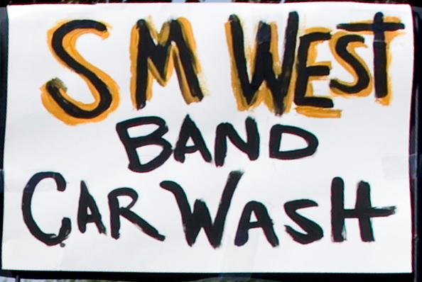 SM West Band Car Wash Sign