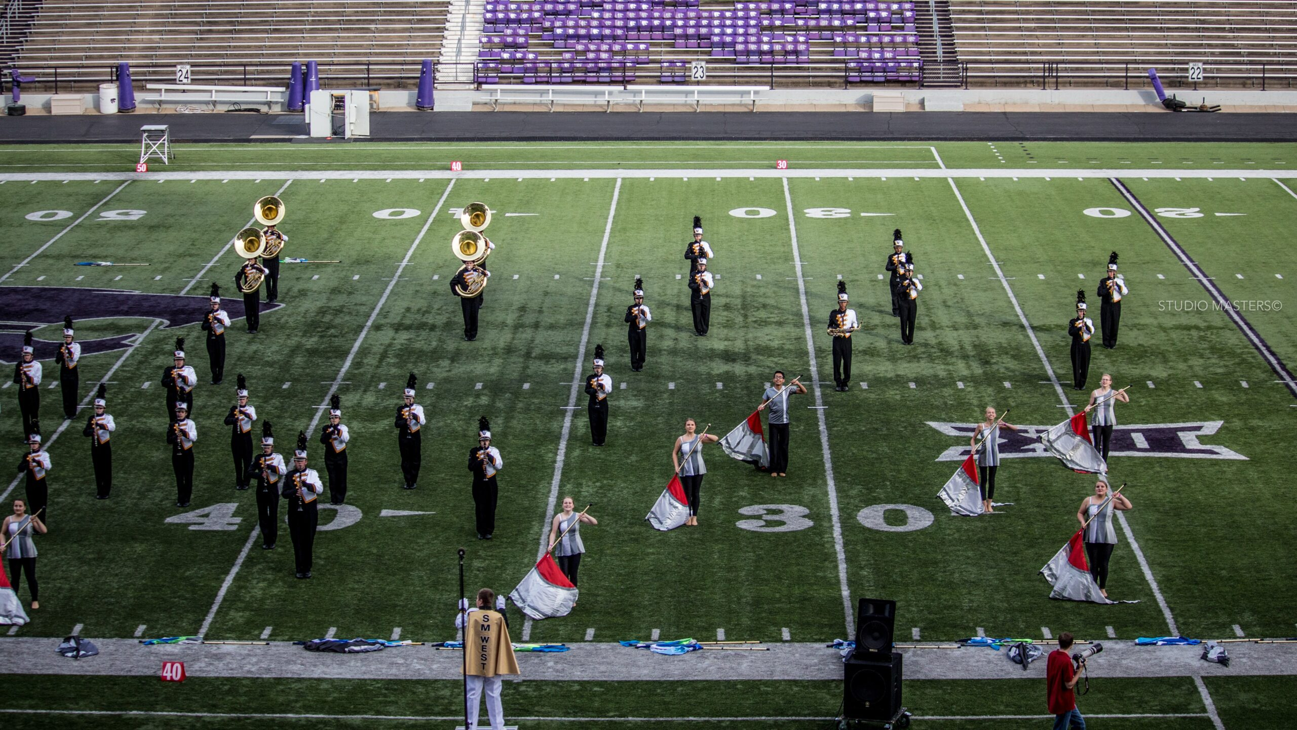 Shawnee Mission West Marching Band at the Central States Marching Festival, 2015, courtesy Angela Masters-Quick