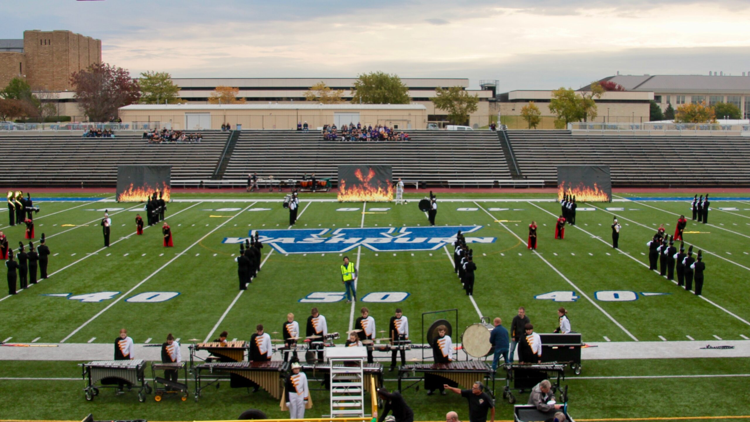 Shawnee Mission West performing in the 2019 KBA Marching Festival, courtesy Will England